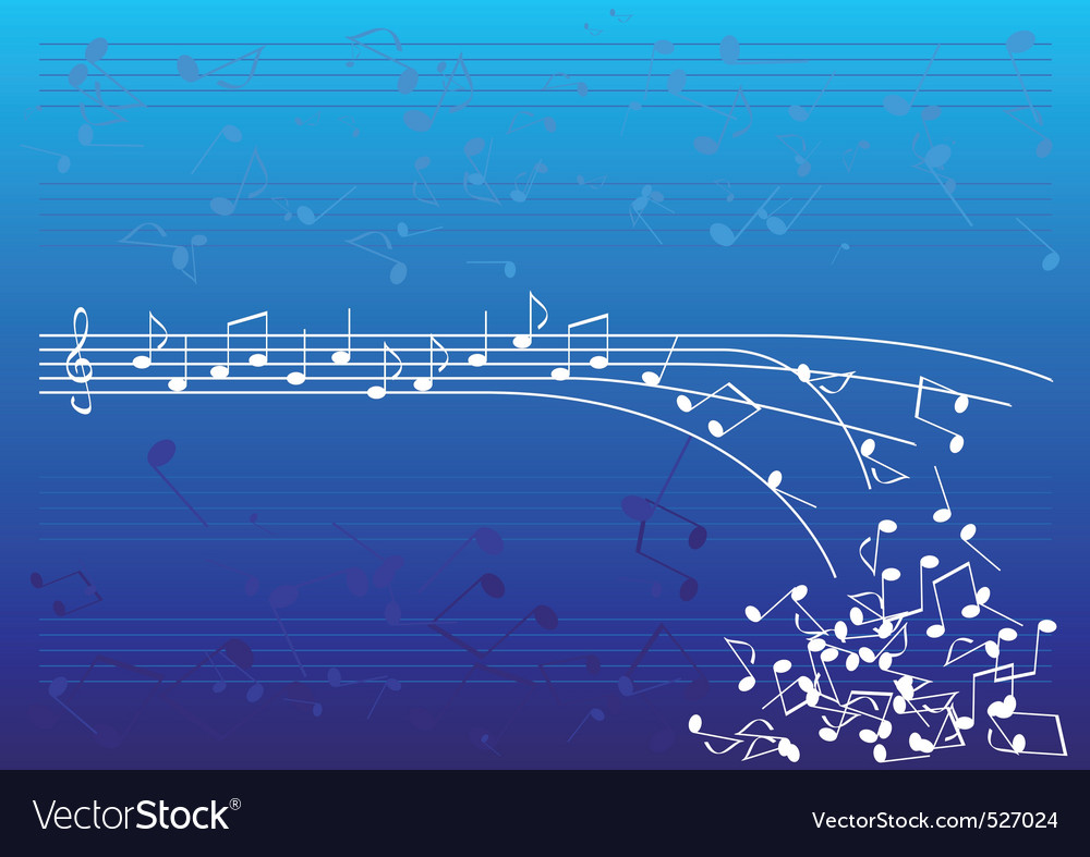 Blue notes vector | Price: 1 Credit (USD $1)