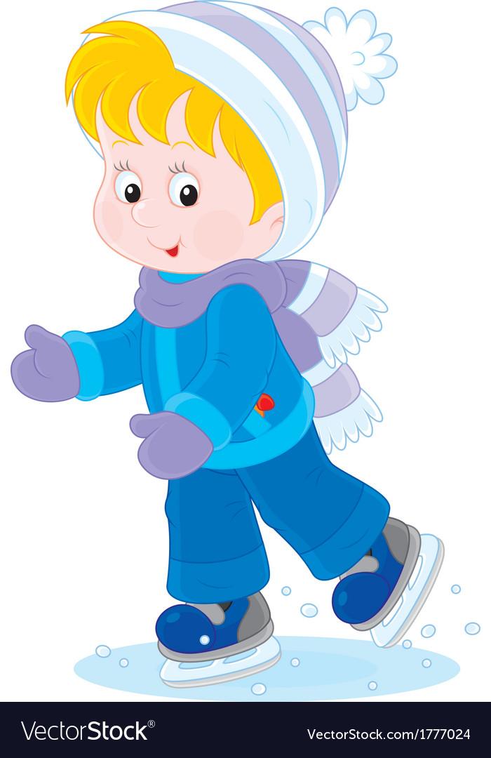 Child skating vector