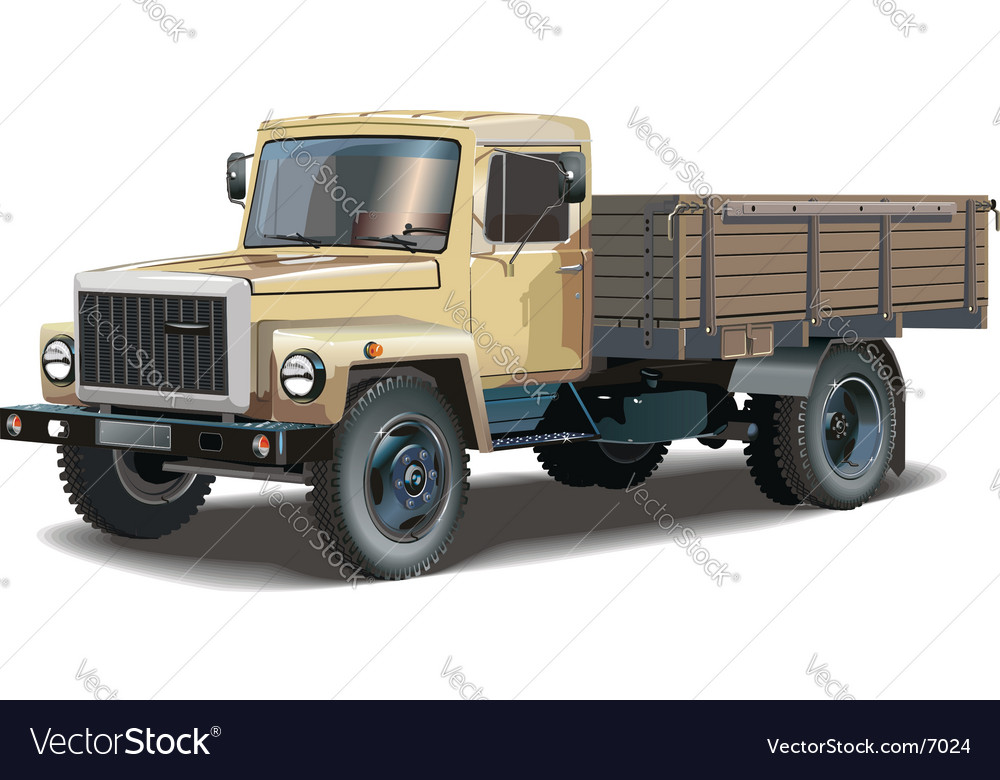 Classic lorry vector | Price: 5 Credit (USD $5)