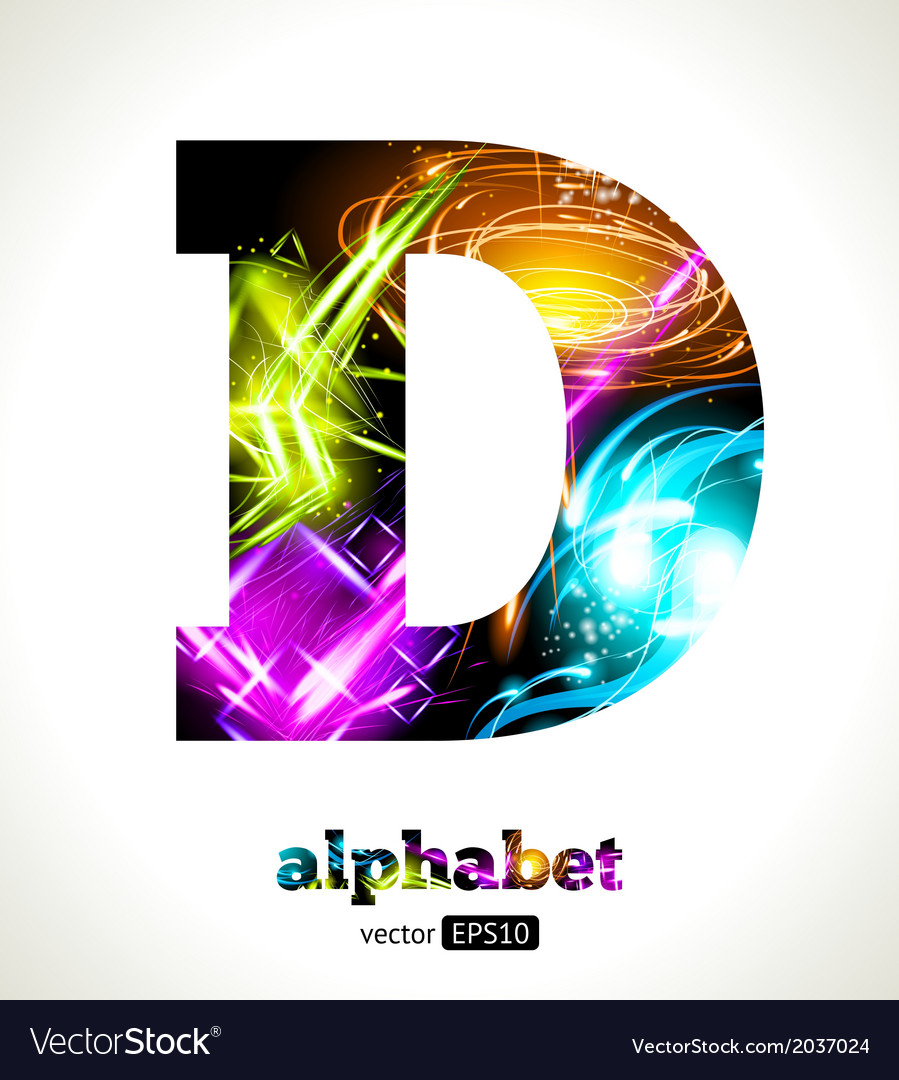 Design abstract letter d vector | Price: 1 Credit (USD $1)