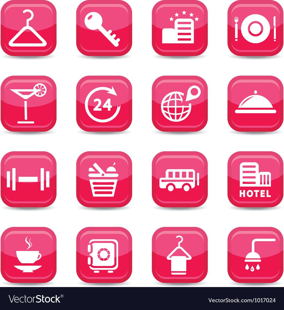 Hotel business icons vector | Price: 1 Credit (USD $1)