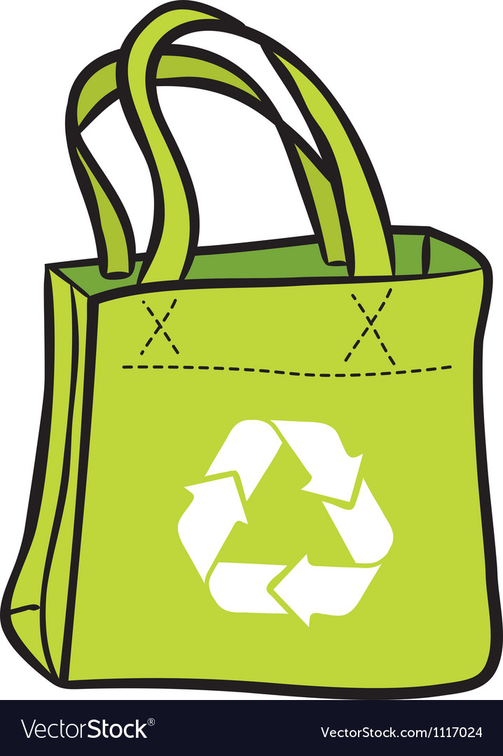 Recycle shopping bag vector | Price: 1 Credit (USD $1)