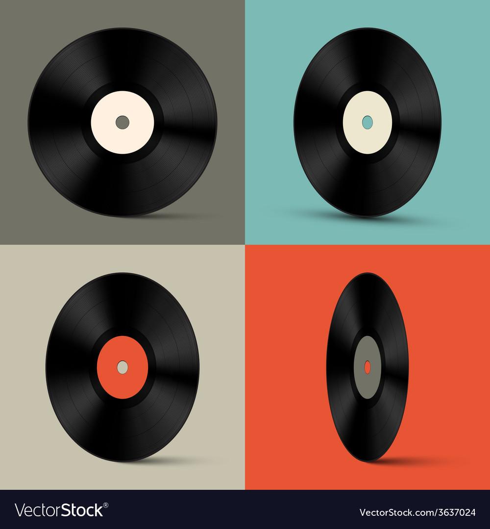 Retro vinyl records set vector   Price: 1 Credit (USD $1)