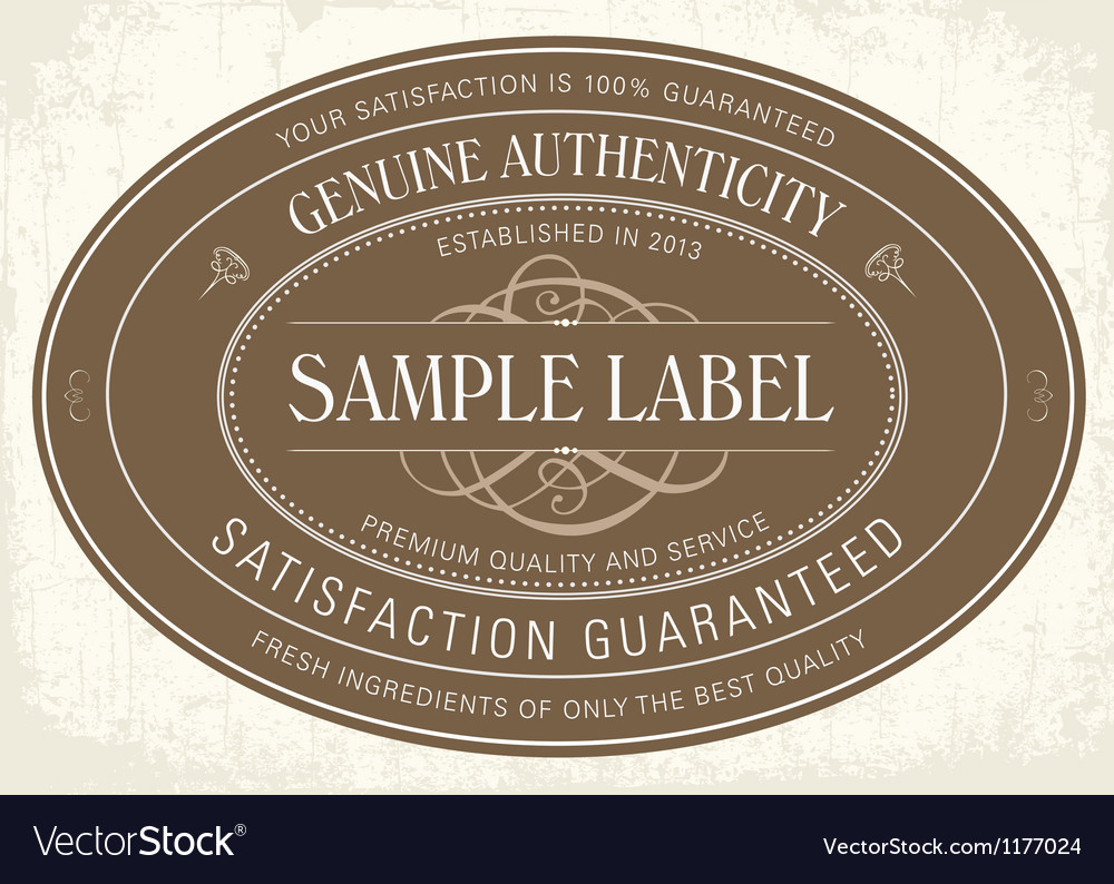 Sample classic label vector | Price: 1 Credit (USD $1)