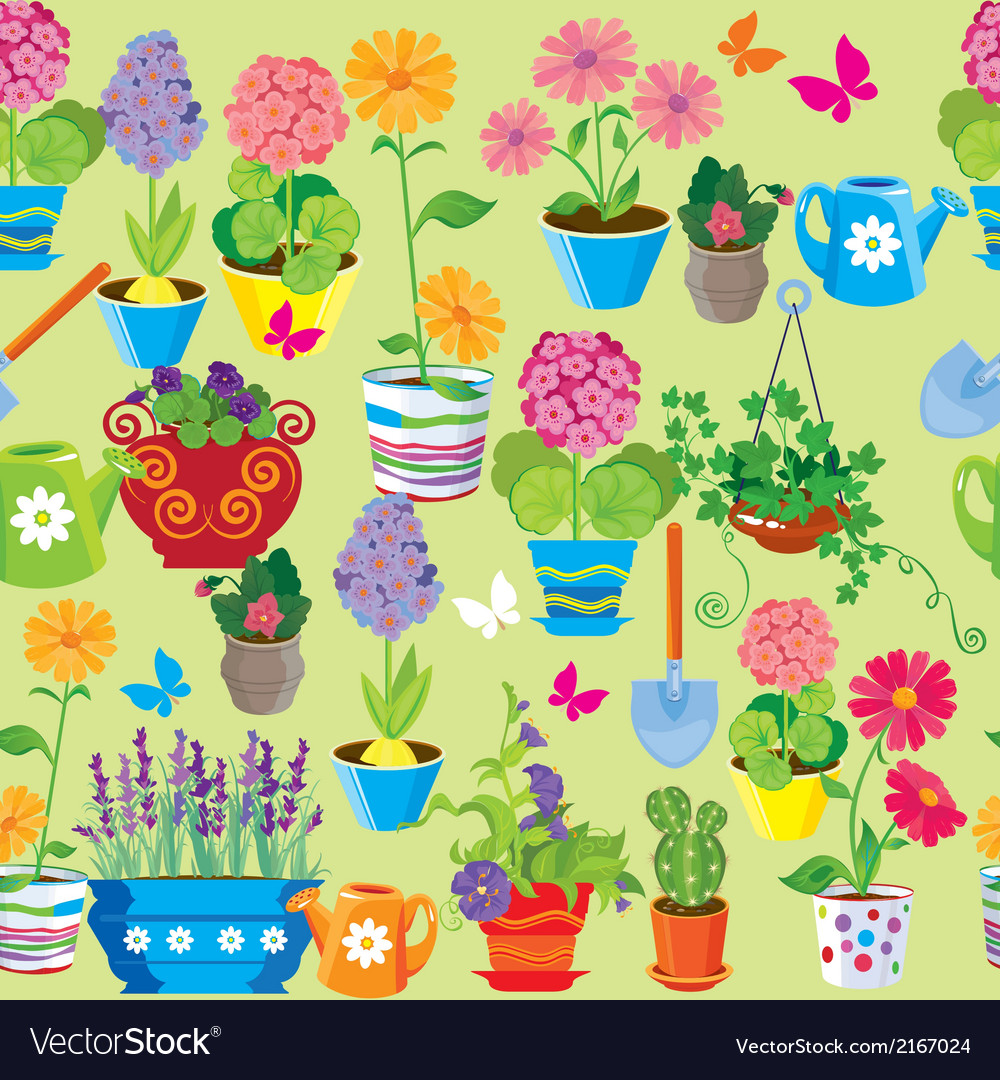 Seamless pattern with spring and summer flowers in vector | Price: 1 Credit (USD $1)