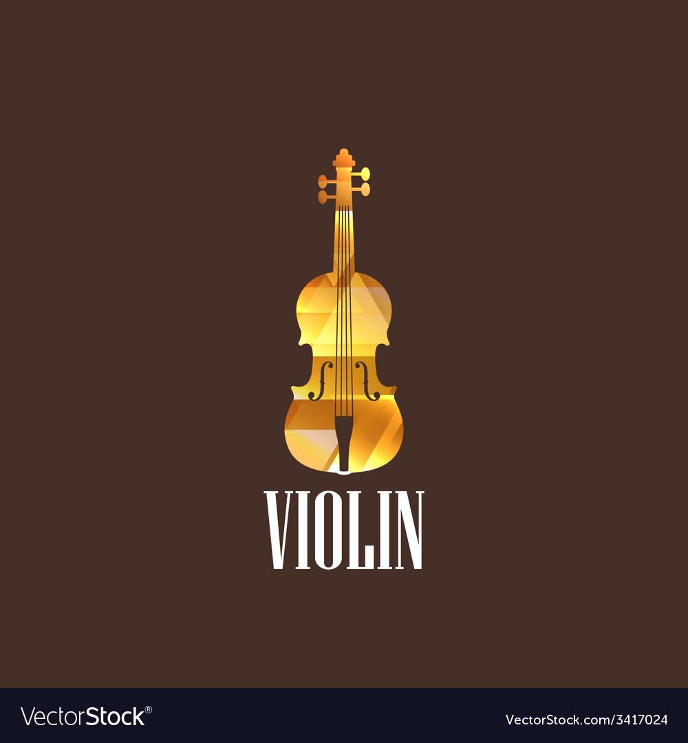 With violin icon vector | Price: 1 Credit (USD $1)