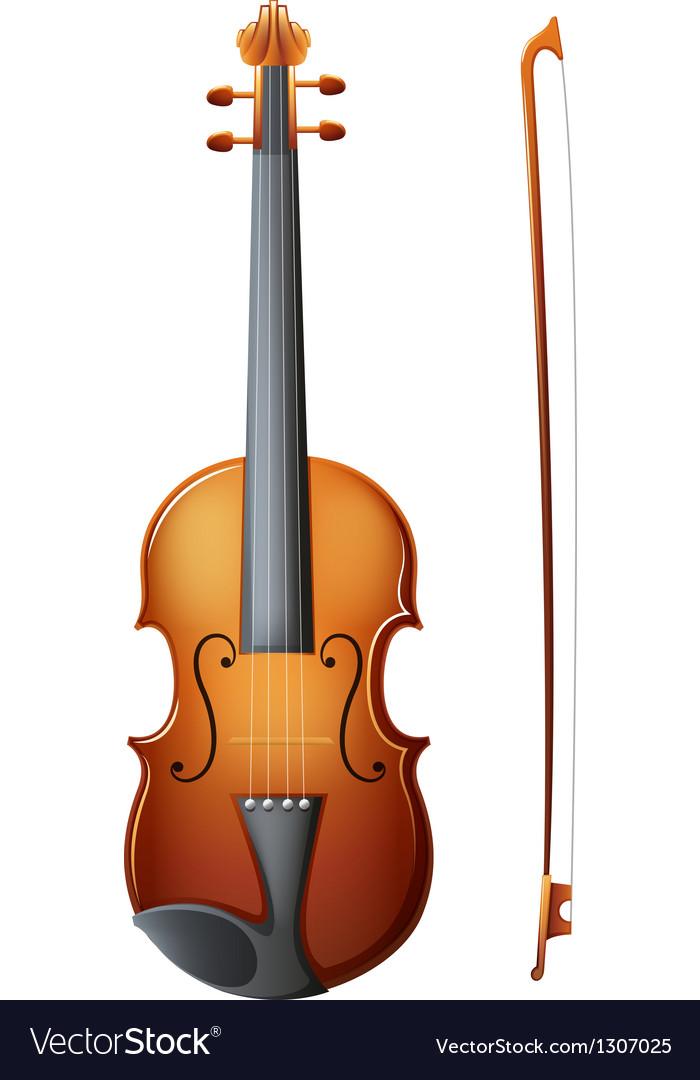 A brown violin vector | Price: 1 Credit (USD $1)