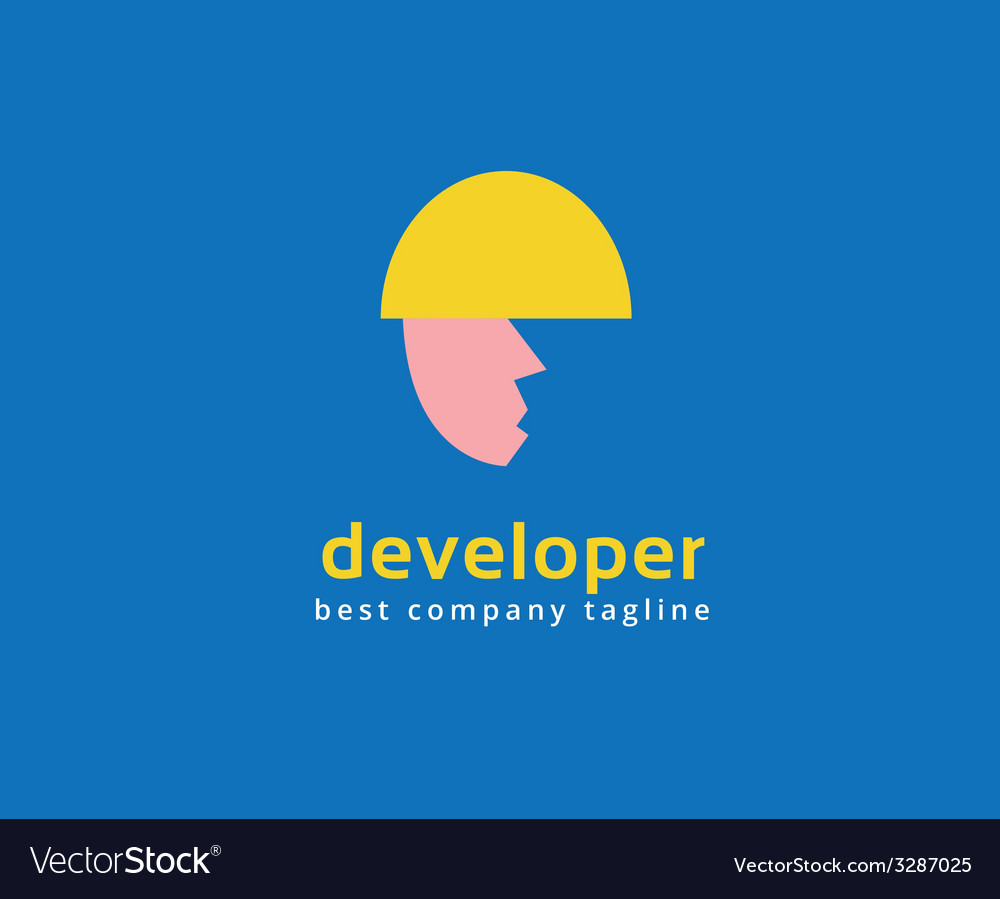 Abstract developer logo icon concept logotype vector | Price: 1 Credit (USD $1)