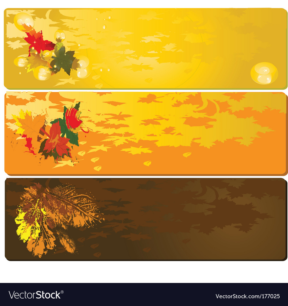 Autumn banner vector | Price: 1 Credit (USD $1)