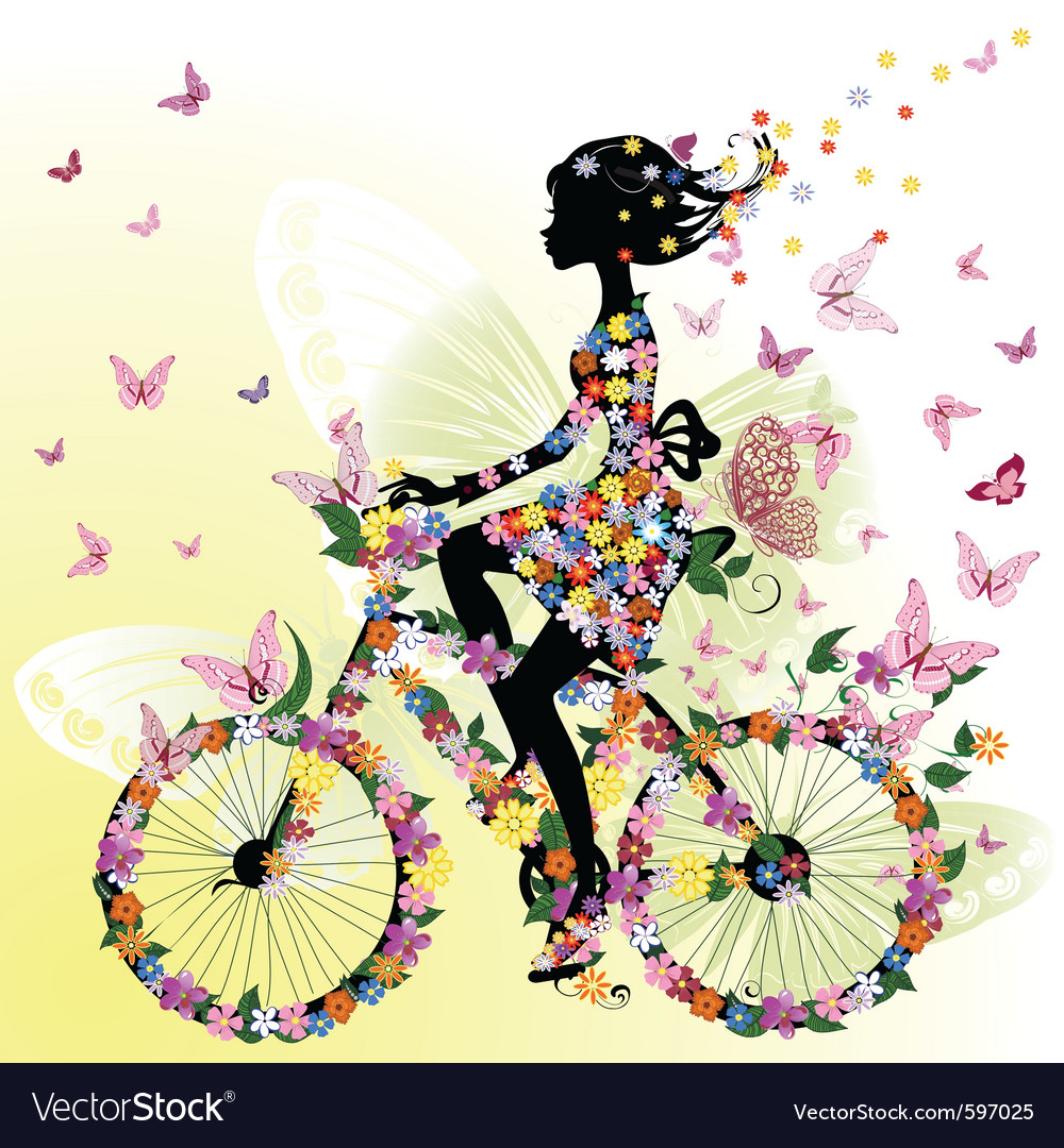 Bicycle romantic vector | Price: 1 Credit (USD $1)