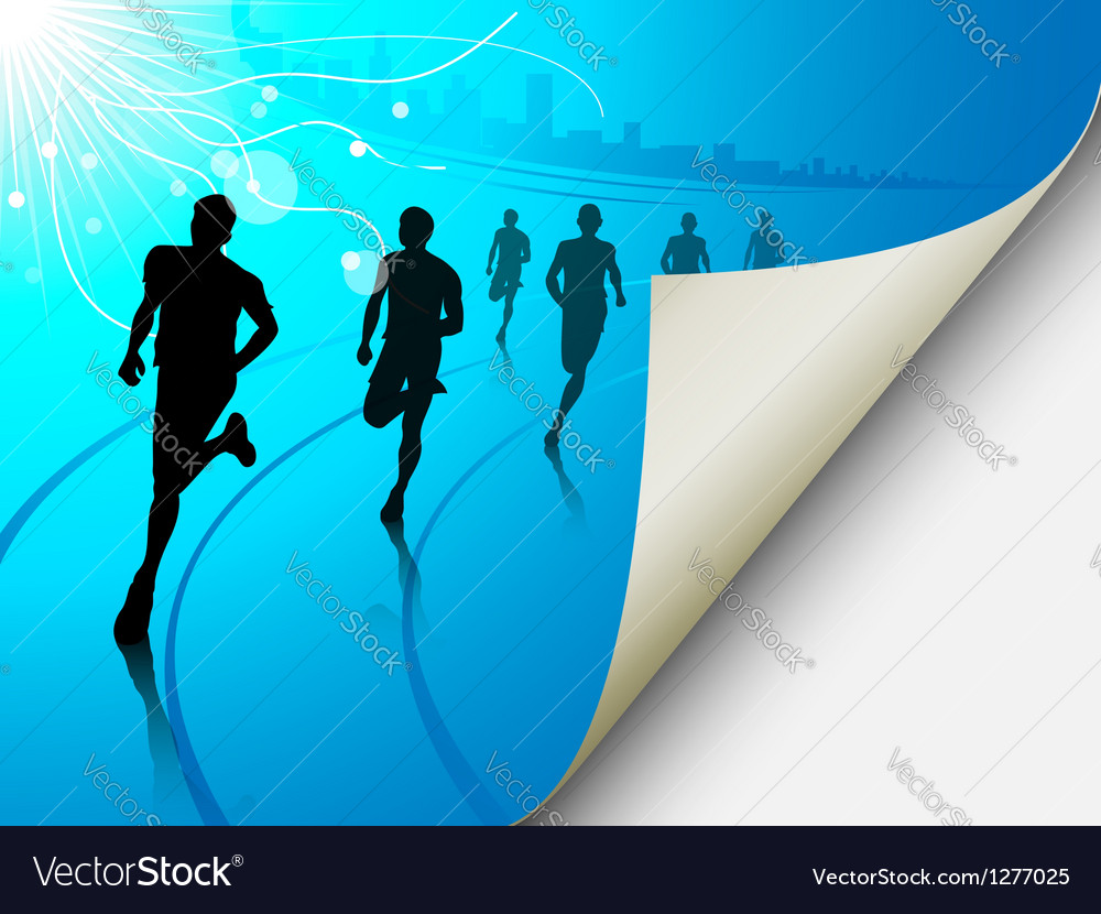 Cityscape runners background vector | Price: 1 Credit (USD $1)