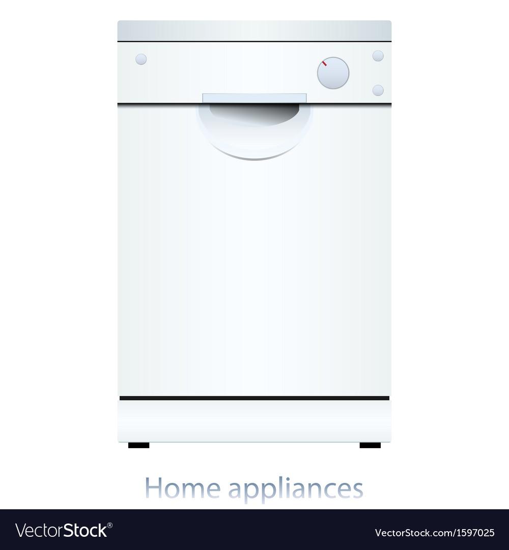 Dishwasher machine vector | Price: 1 Credit (USD $1)