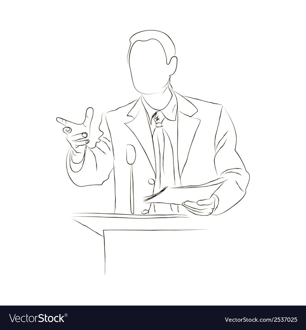 Doodle orator sketch vector | Price: 1 Credit (USD $1)