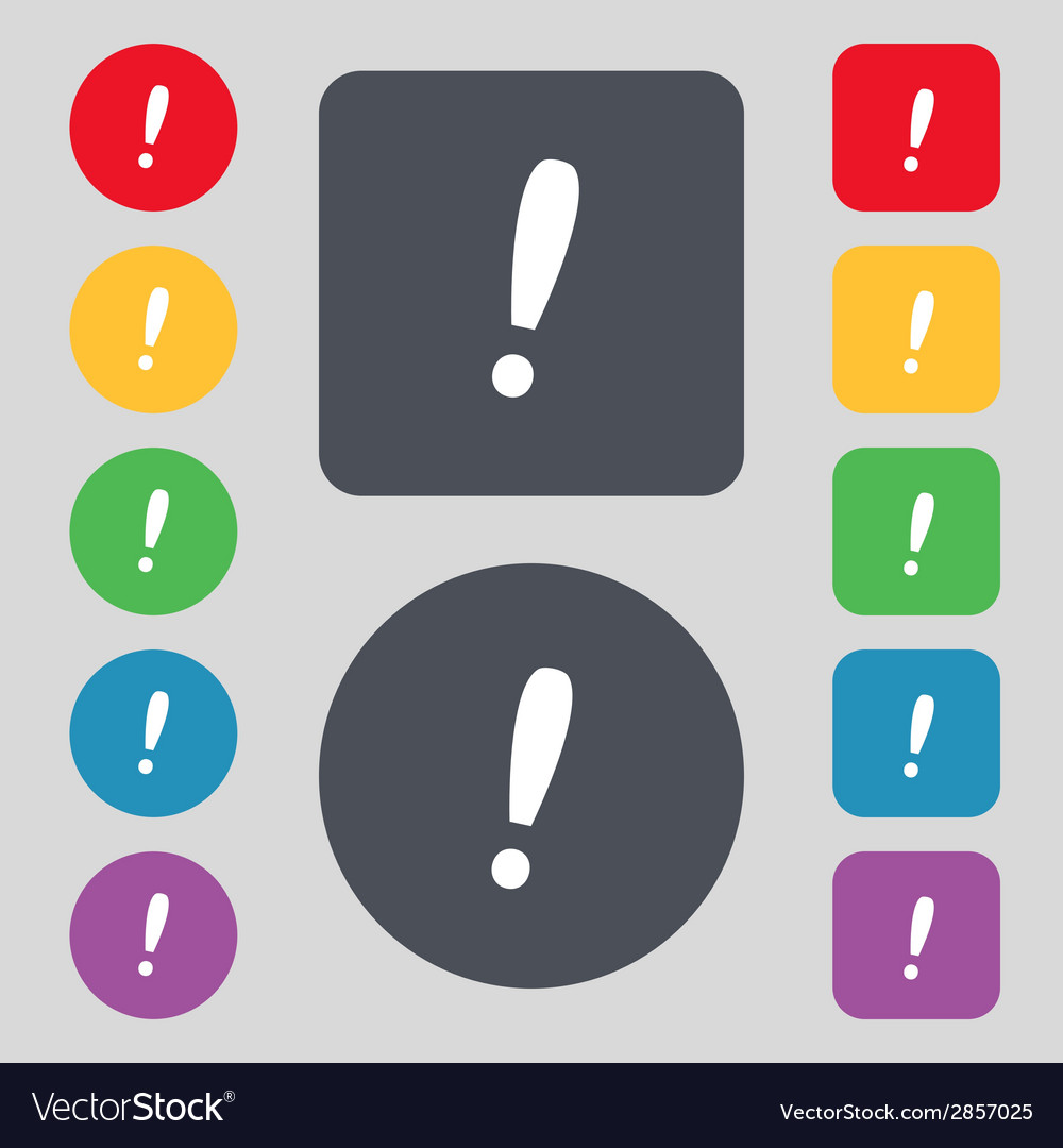 Exclamation mark sign icon attention speech bubble vector   Price: 1 Credit (USD $1)