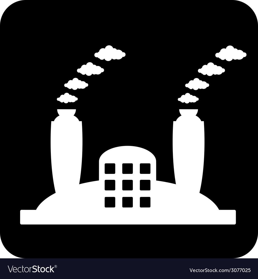 Factory symbol button vector   Price: 1 Credit (USD $1)