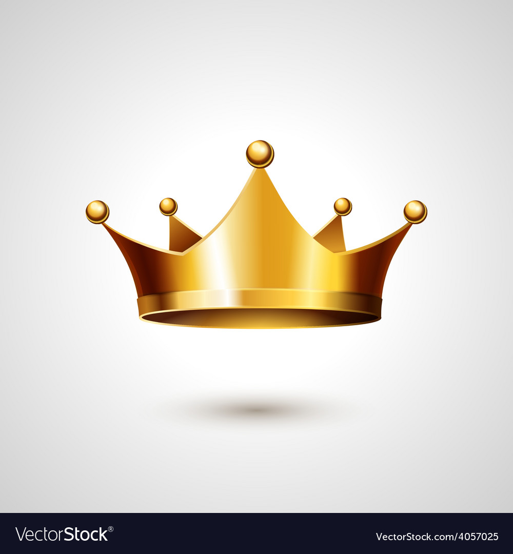 Gold crown isolated on white background vector | Price: 1 Credit (USD $1)
