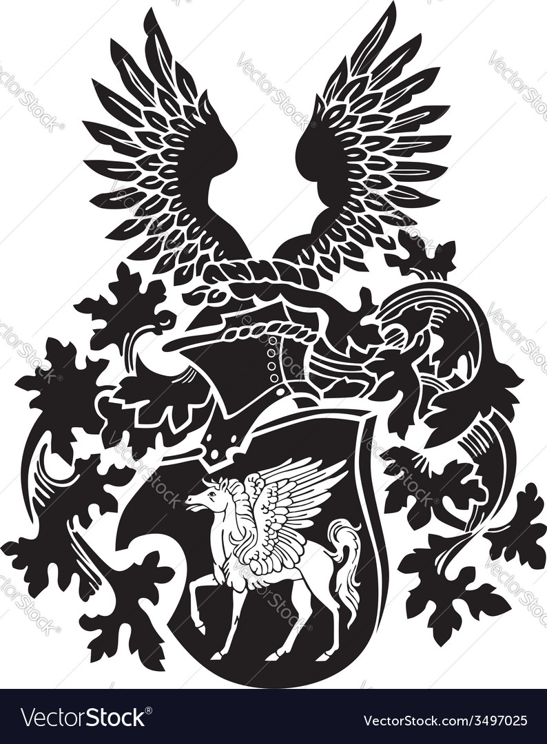 Heraldic silhouette no39 vector | Price: 1 Credit (USD $1)
