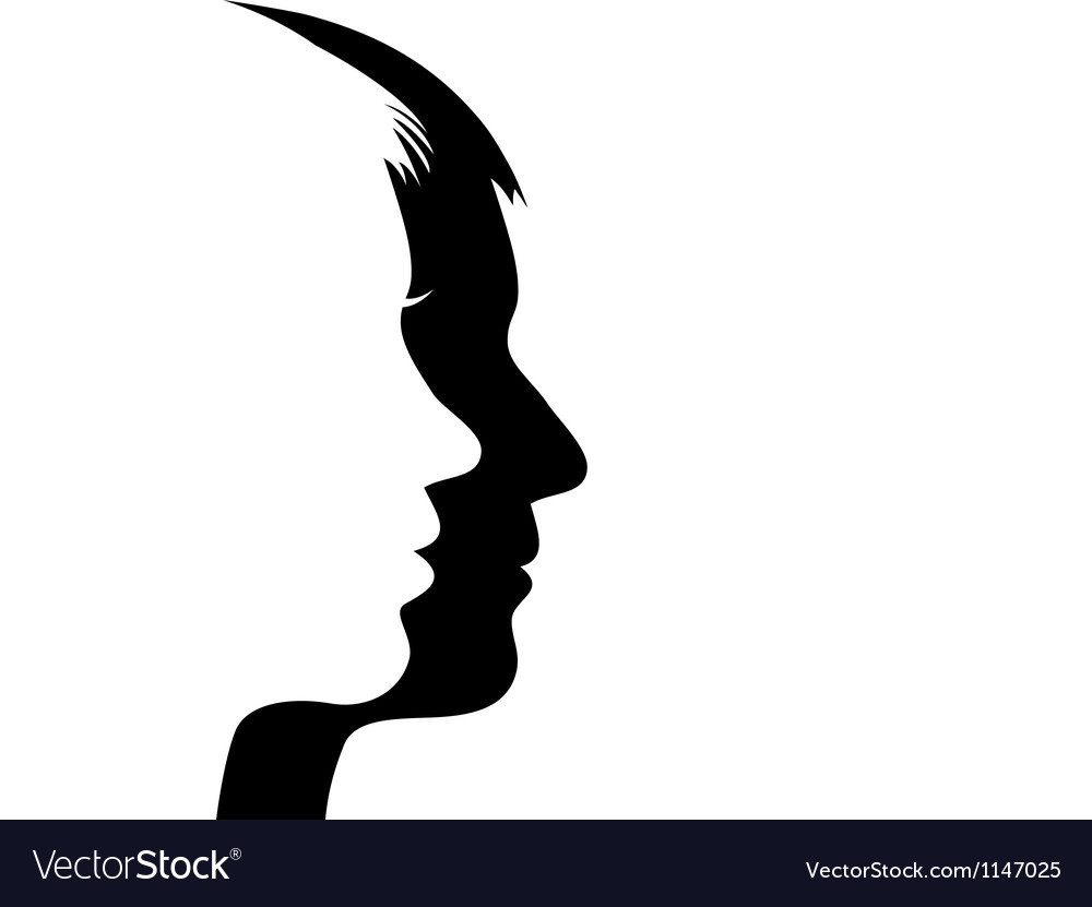 Man and woman s face vector | Price: 1 Credit (USD $1)