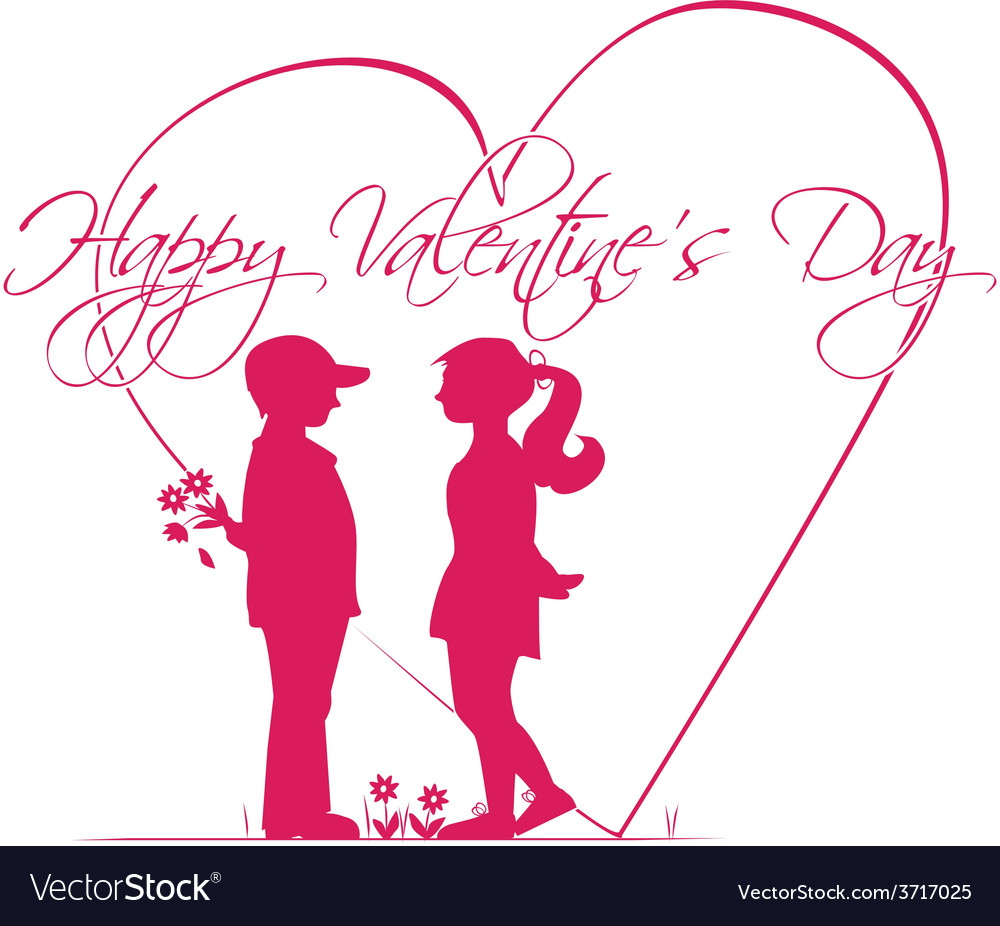Romantic story of valentines day vector | Price: 1 Credit (USD $1)