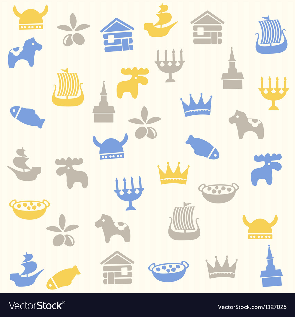 Scandinavian seamless pattern vector | Price: 1 Credit (USD $1)
