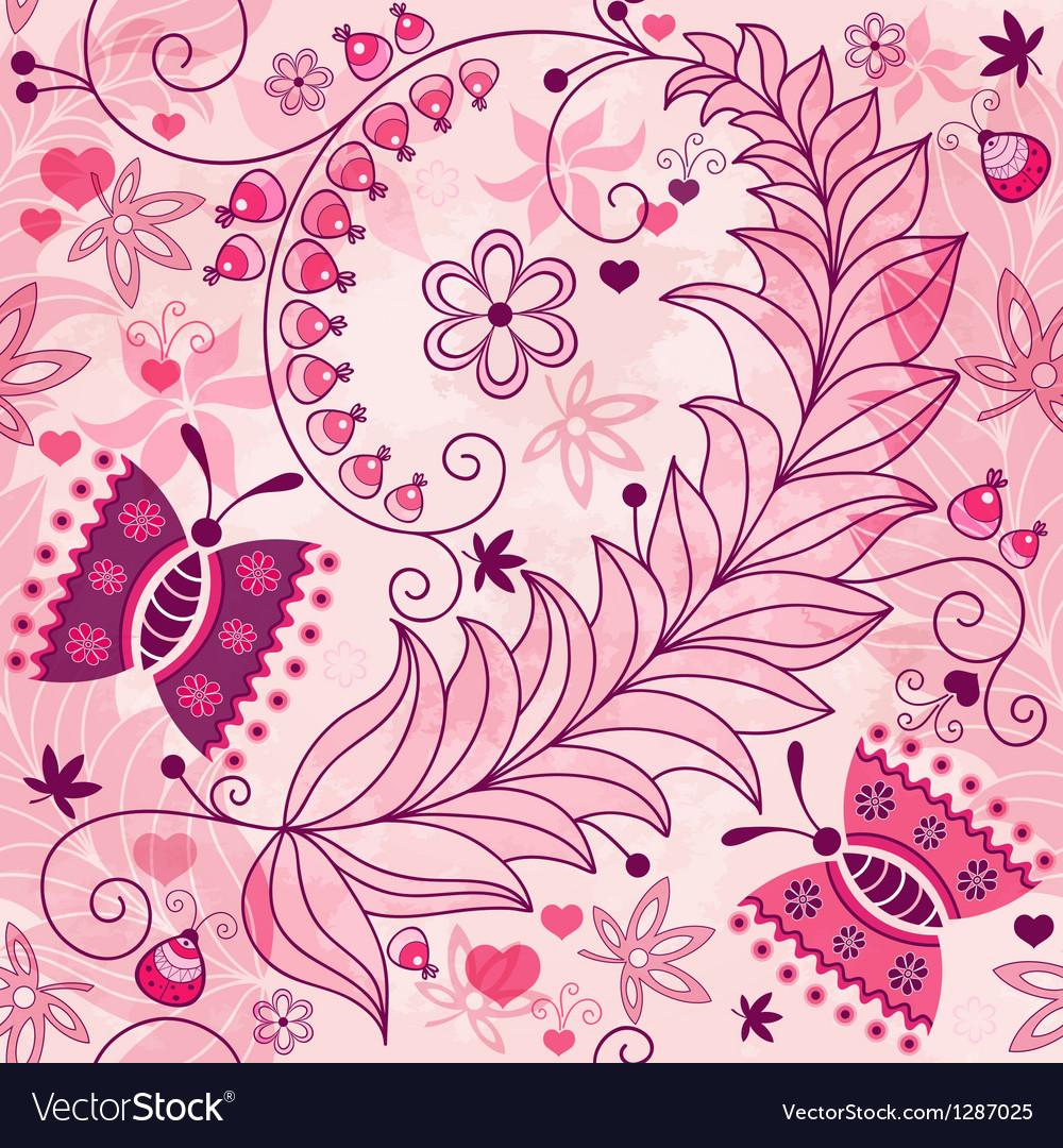 Seamless spring grunge pattern vector | Price: 1 Credit (USD $1)