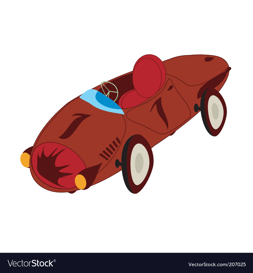Stylized sport car vector | Price: 1 Credit (USD $1)
