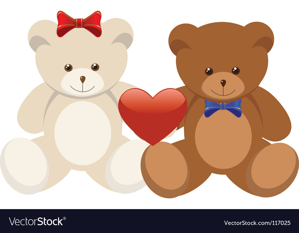 Two bears vector | Price: 1 Credit (USD $1)