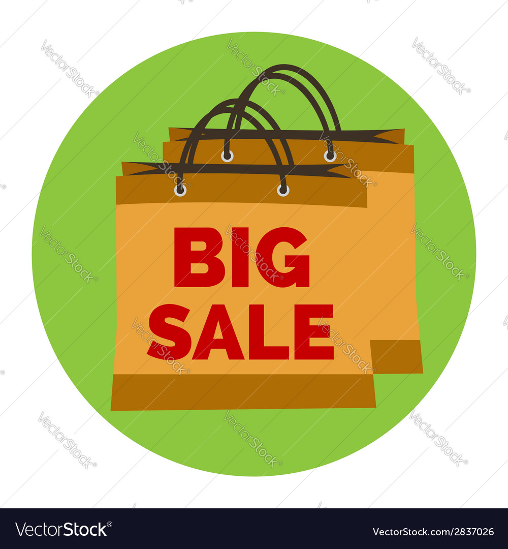 Big sale icon flat style isolated in colored vector | Price: 1 Credit (USD $1)