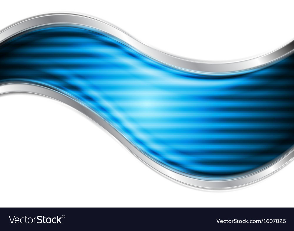 Bright blue and silver waves vector | Price: 1 Credit (USD $1)