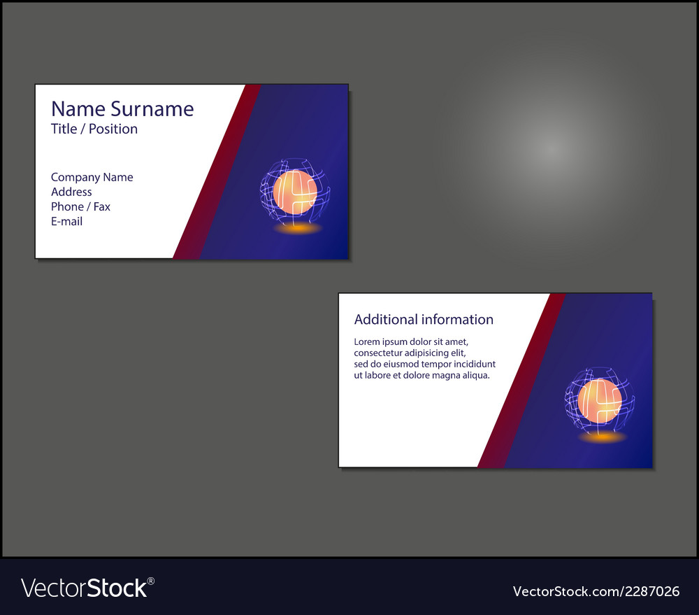Business card layout vector | Price: 1 Credit (USD $1)