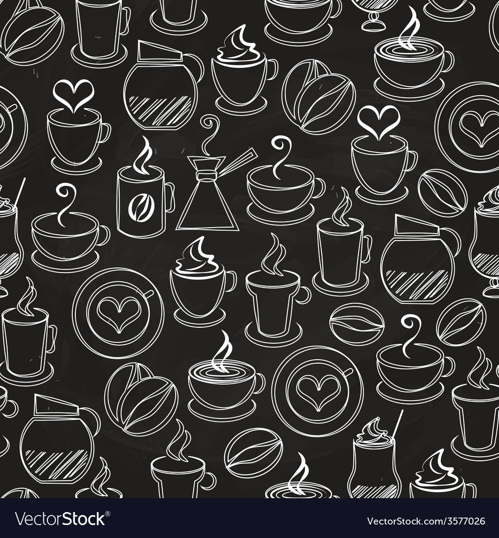 Coffee seamless background pattern vector | Price: 1 Credit (USD $1)