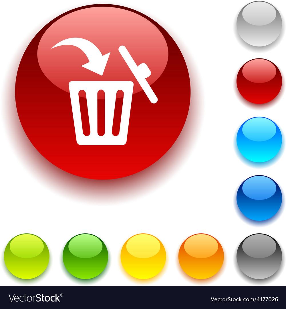 Delete button vector | Price: 1 Credit (USD $1)