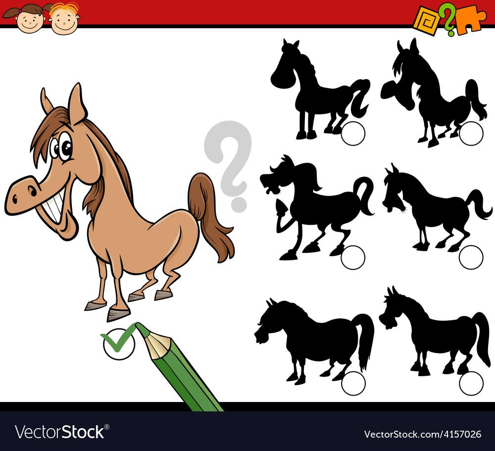 Education shadows game cartoon vector | Price: 1 Credit (USD $1)