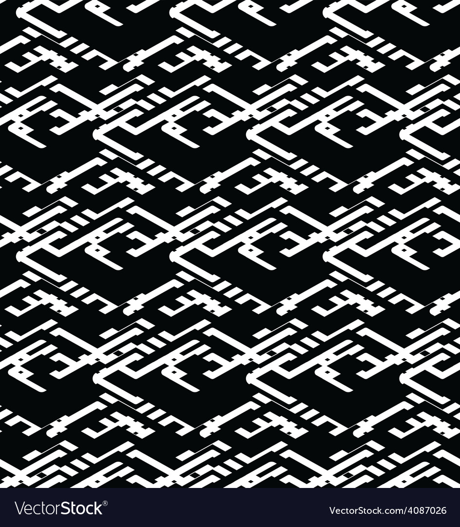 Geometric messy lined seamless pattern black vector | Price: 1 Credit (USD $1)