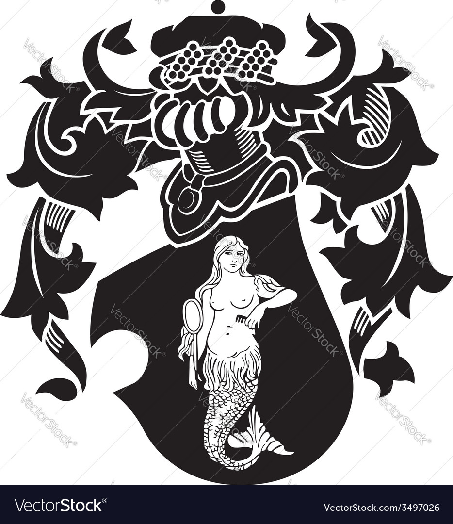 Heraldic silhouette no40 vector | Price: 1 Credit (USD $1)