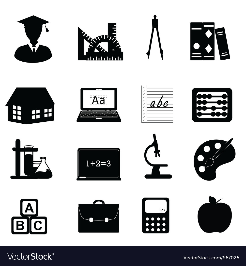 University icons vector | Price: 1 Credit (USD $1)