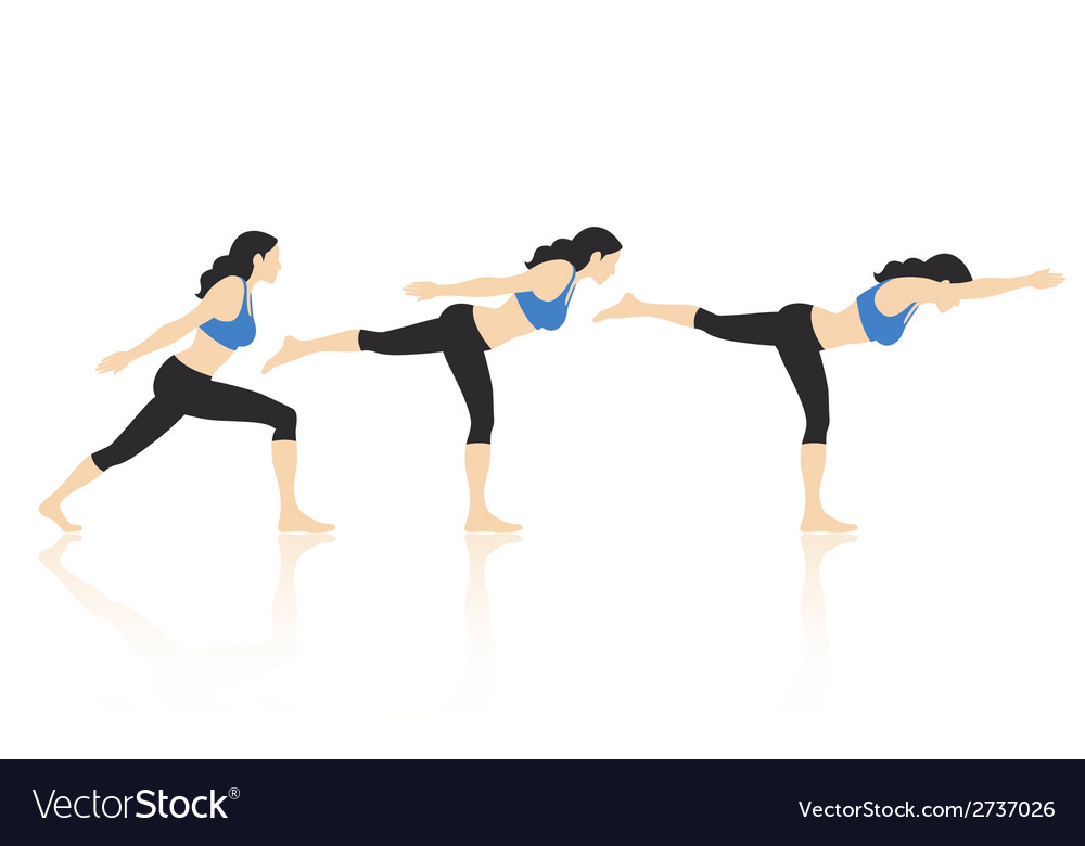 Yoga poses vector | Price: 1 Credit (USD $1)