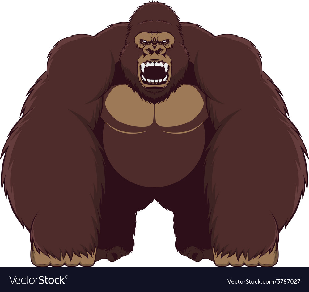 Angry gorilla vector | Price: 1 Credit (USD $1)