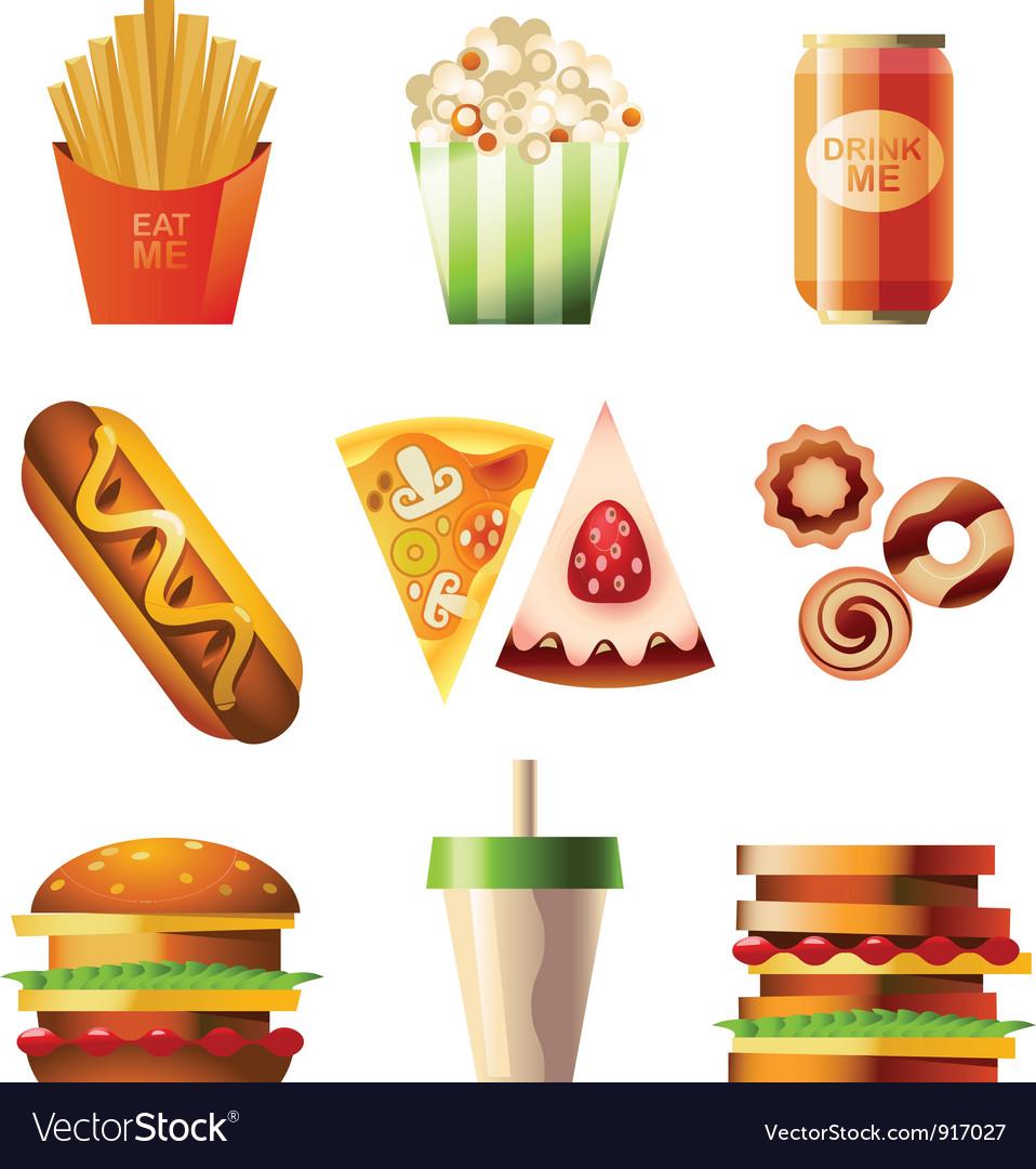 Fast food set vector | Price: 3 Credit (USD $3)