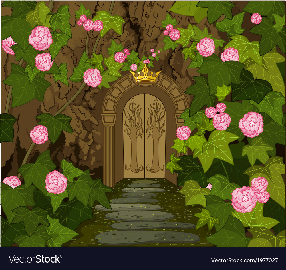 Gates of magic elves castle vector | Price: 1 Credit (USD $1)