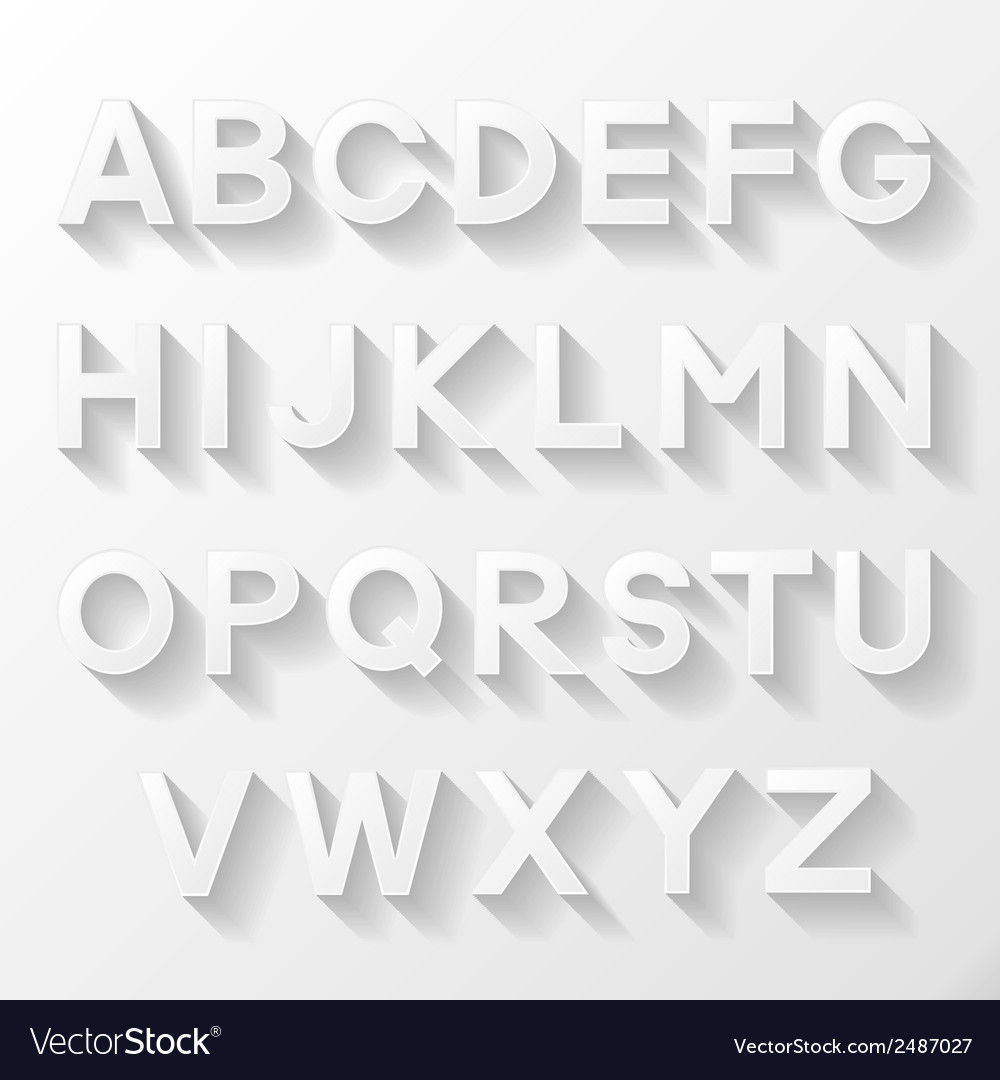 Graphic alphabet set vector | Price: 1 Credit (USD $1)