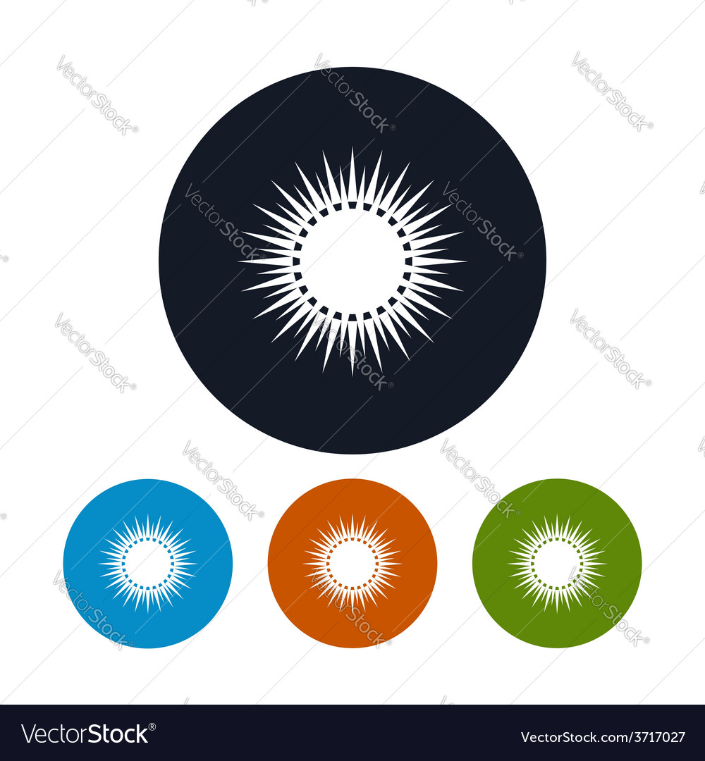 Icon sun with rays vector | Price: 1 Credit (USD $1)