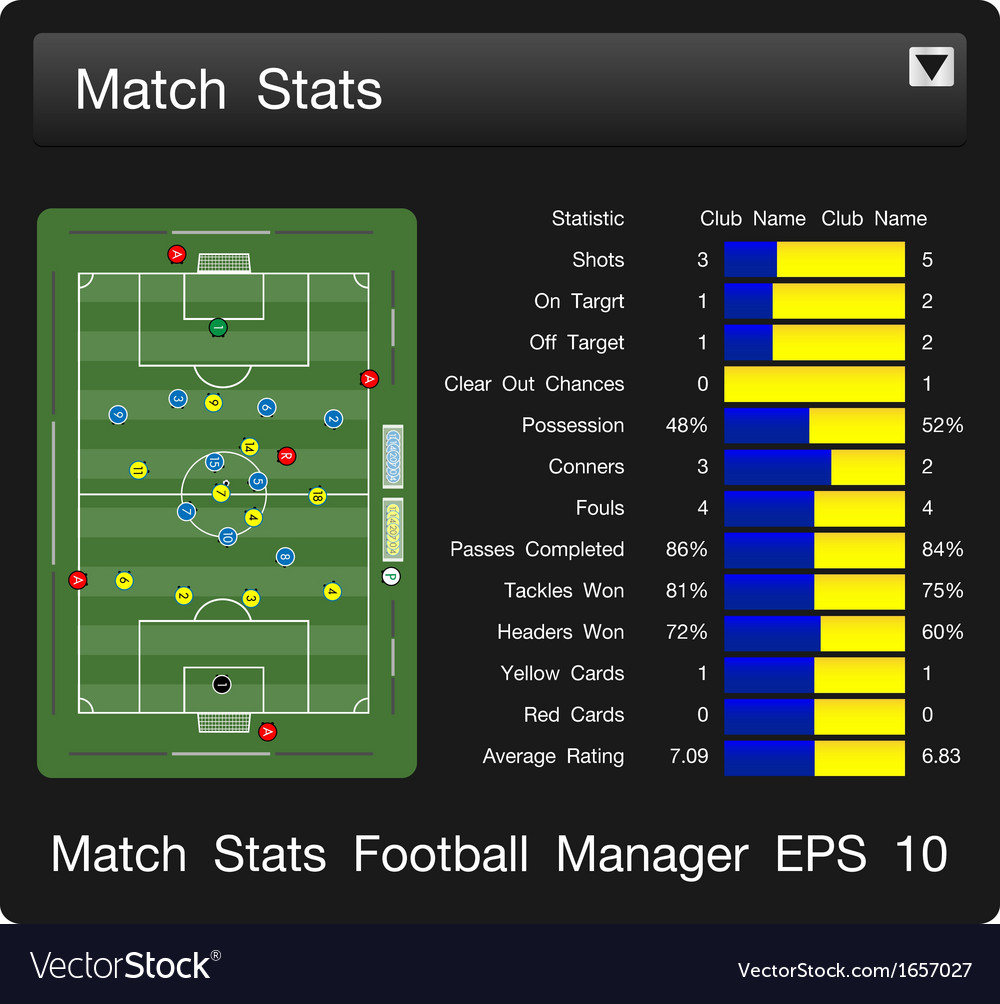 Match start football manager vector | Price: 1 Credit (USD $1)