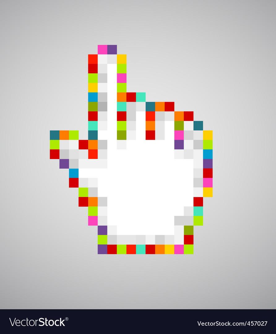 Pixel cursor hand vector | Price: 1 Credit (USD $1)