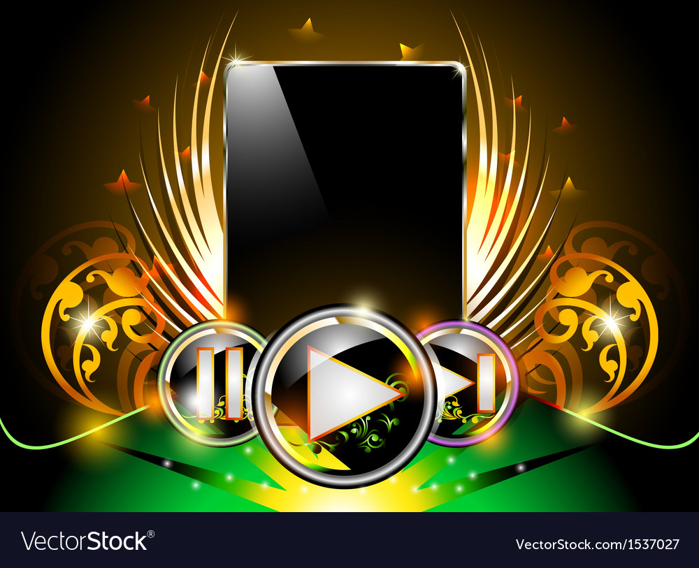 Smart phone music background vector | Price: 1 Credit (USD $1)