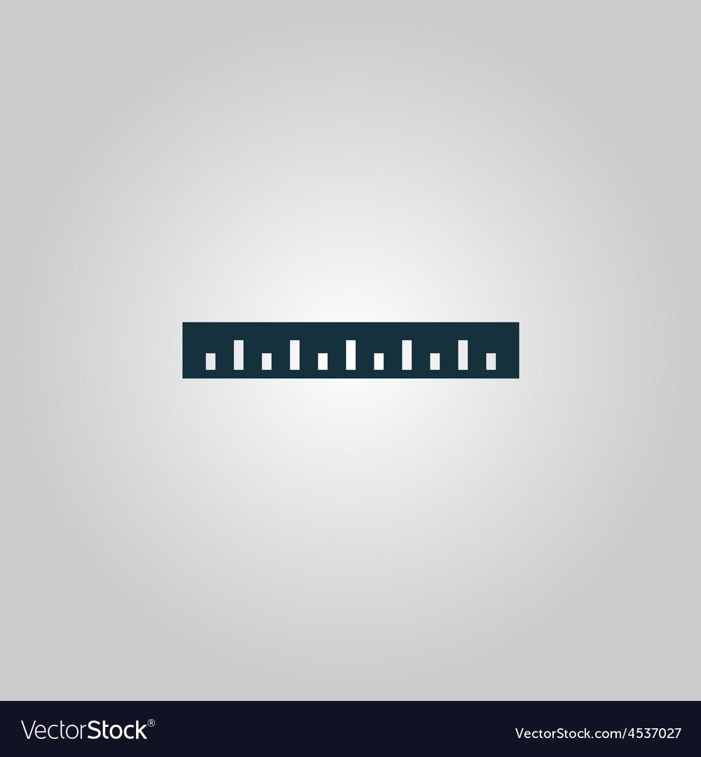 Straightedge icon vector | Price: 1 Credit (USD $1)