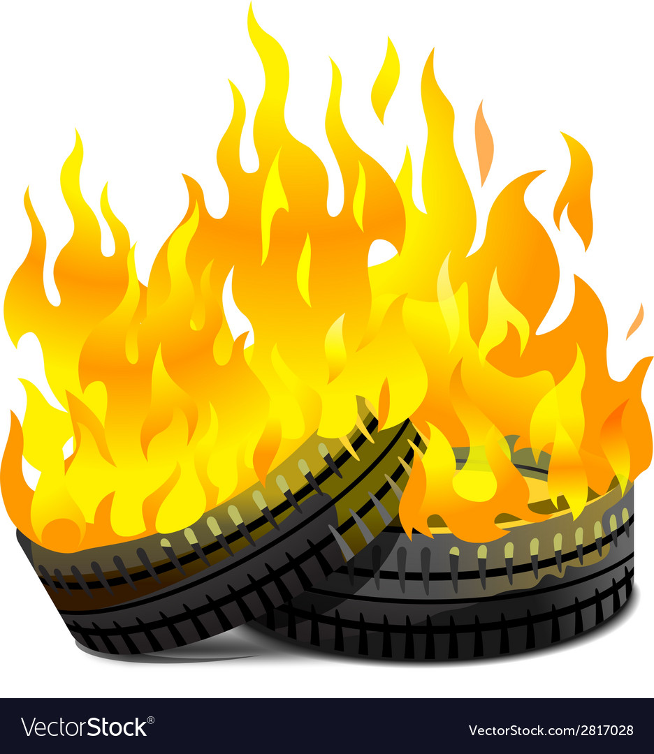 Burning tires vector | Price: 1 Credit (USD $1)