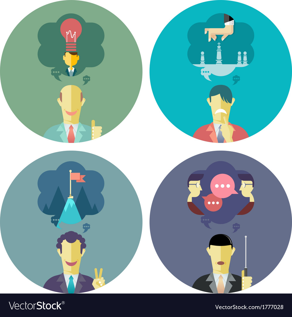 Business and management set 4 vector | Price: 1 Credit (USD $1)
