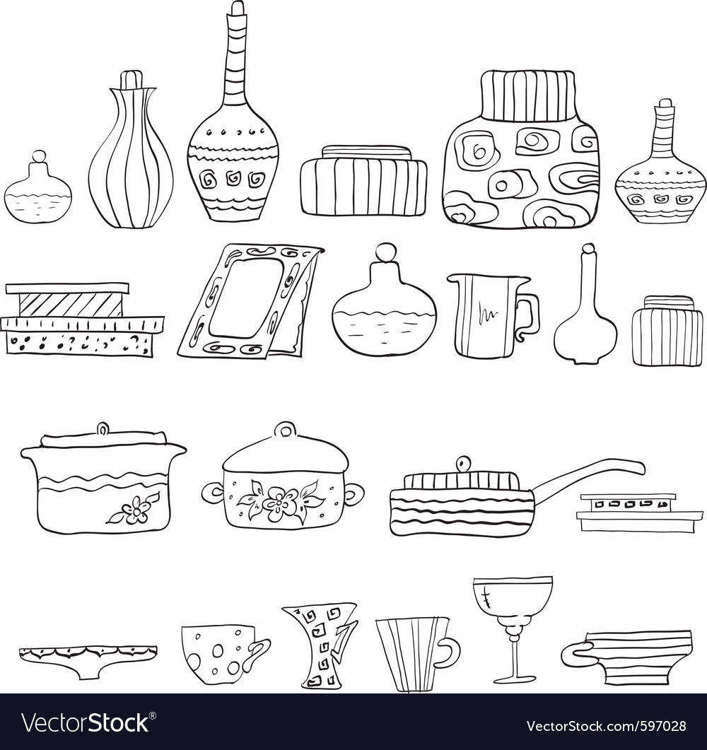 Drawing utensils vector | Price: 1 Credit (USD $1)