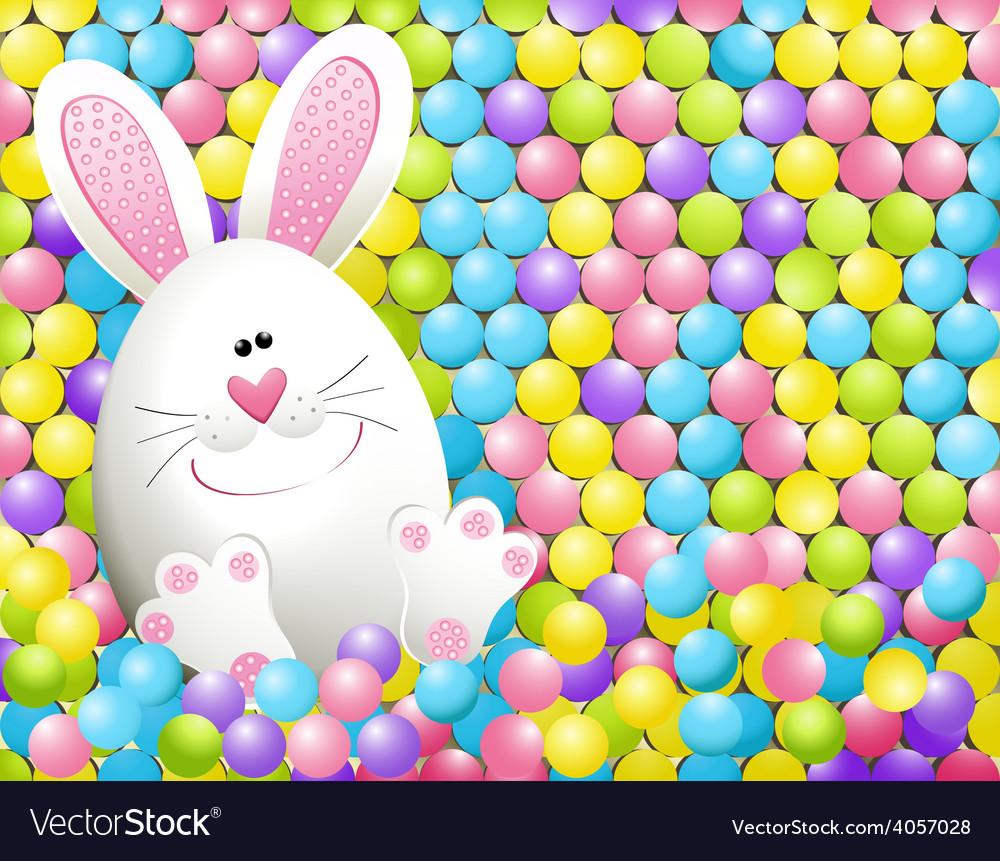 Easter rabbit in candies vector | Price: 1 Credit (USD $1)